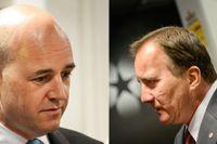 Statsminister Fredrik Reinfeldt (M) mötte Stefan Löfven (S) i SVT:s Agenda.
