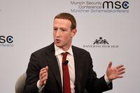 Mark Zuckerberg deltar i den pågående internationella säkerhetspolitiska konferensen i München.