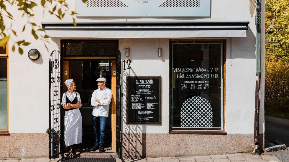 Efter att ha bott i Milano öppnade Hanna och Angelo Scarfò gelatobaren Scarfò i Bromma för sex år sedan.