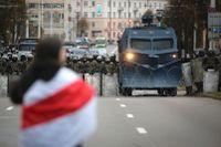 En tidigare demonstration mot president Aleksandr Lukasjenko i Belarus huvudstad Minsk. Arkivbild.