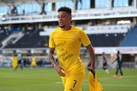 Engelsmannen Jadon Sancho visade vad han tyckte om den senaste tidens turbulens i USA efter att ha gjort mål mot Paderborn i söndags.