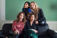 Från vänster uppifrån: Skådespelarna Bahar Pars, Sofia Helin, Sofia Ledarp och Angelika Prick fotograferade i samband med att #tystnadtagning fyllde två år i fjol. Arkivbild.