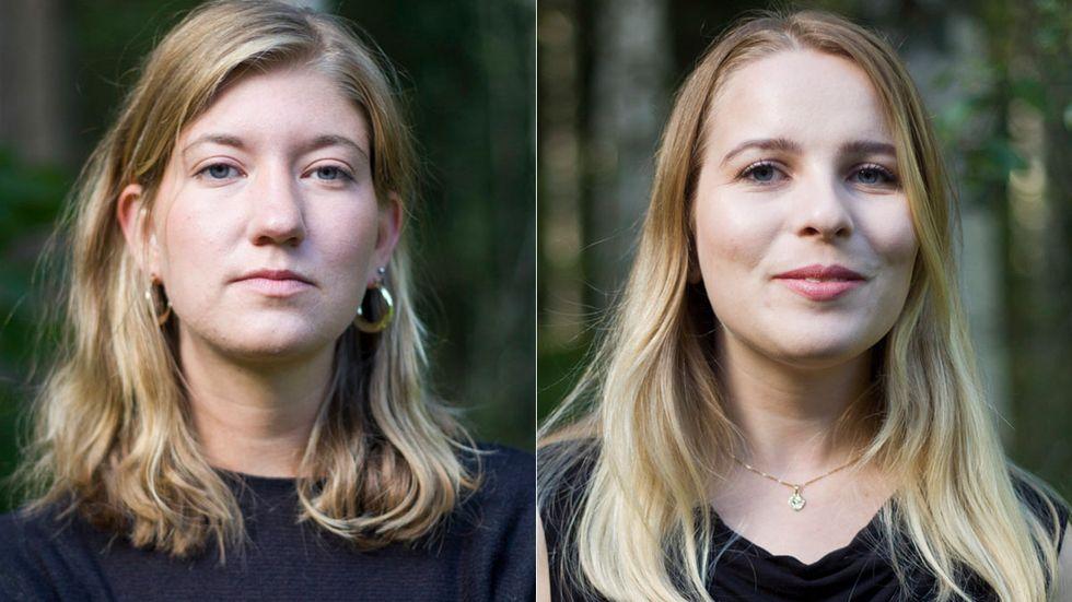Lotten Hammar och Alva Cedergren.