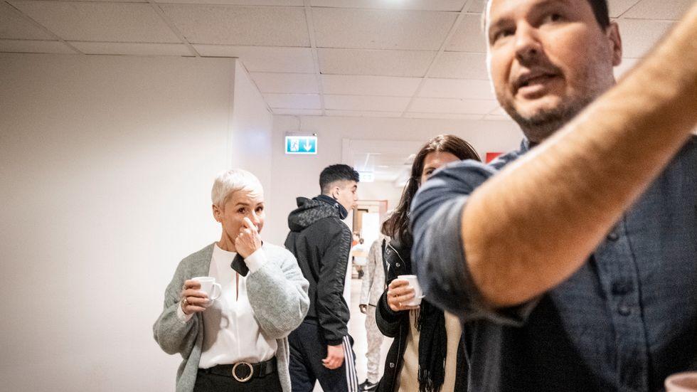Rektor och vd Djordje Petrovic håller rundtur på Atvexas skola Tornadoskolan i Skarpnäck.