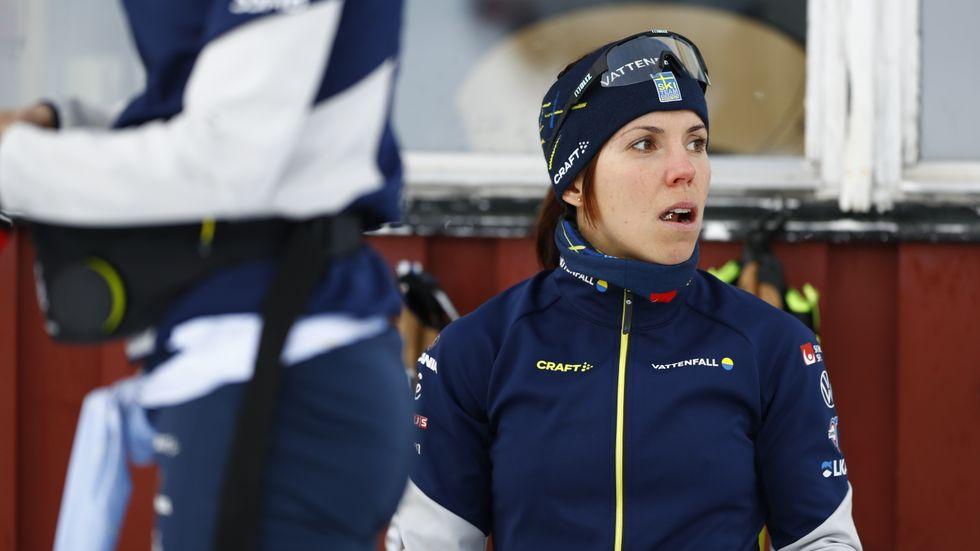 Charlotte Kalla inför tävlingen i Östersund i helgen.