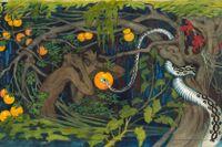 """Tyra Kleen, """"Förbjuden frukt"""", 1915, akvarell."""