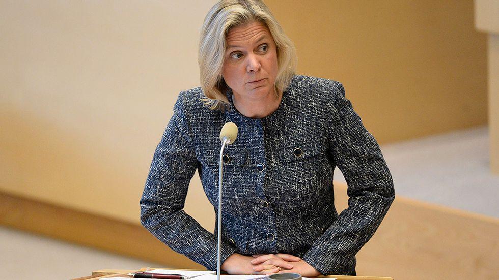 Magdalena Andersson, finansminister i regeringen Löfven.