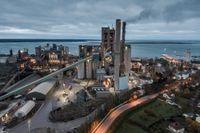Cementas fabrik i Slite på Gotland. Arkivbild.