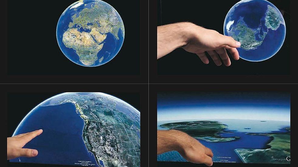 Geststyrning gör att du bara genom att vifta med fingrarna kan till exempel snurra på jordgloben, förminska, förstora och dyka ner närmare i en Google Earth-karta. Man kan ha handen upp till en meter från prylen för att styra det som finns på skärmen.