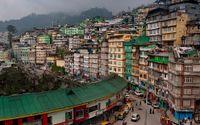 Delstaten Sikkim i Indien.