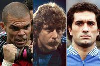 """Pepe, """"Toni"""" Schumacher och Claudio Gentile – tre namn på SvD:s lista över VM:s värsta råskinn."""