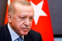 Turkiets president Recep Tayyip Erdogan har flera gånger anklagat HDP-företrädare för kopplingar till PKK. Arkivbild.
