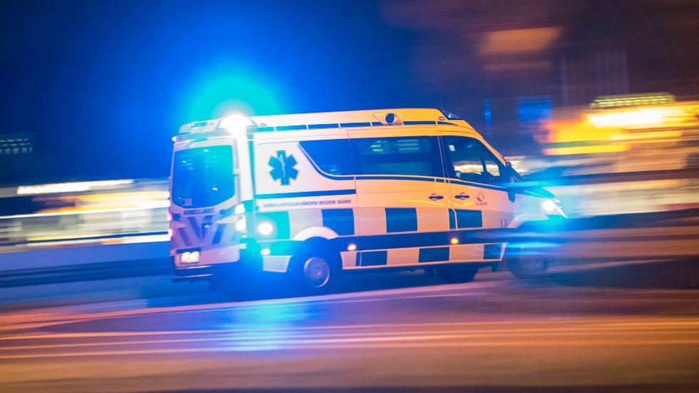 En ambulans angreps med grön laser i Kopparberg. Arkivbild.