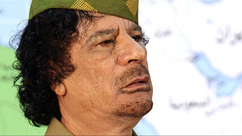 Libyens diktator sedan 1969, Muammar Gaddafi.