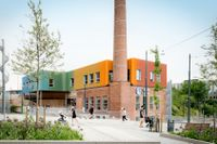 Nobelbergets gamla panncentral återuppstod som färgglad förskola.