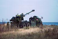 En haubits tillverkad av Bofors.