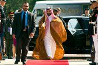 Den saudiska kronprinsen Mohammad bin Salman är den hemliga köparen av världens mest exklusiva hem. Arkivbild.
