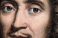 Molière (1622–1673), pseudonym för Jean-Baptiste Poquelin. Litografi efter målning av Pierre Mignard (1612–1695).