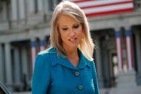 En av USA:s president Donald Trumps rådgivare Kellyanne Conway berättade i en tv-intervju på söndagen att hon utsatts för ett sexuellt övergrepp. Arkivbild.