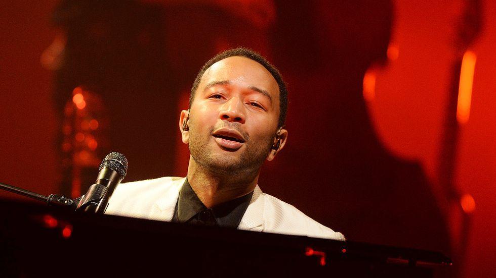 John Legend uppträder på Hammersmith Apollo, London.