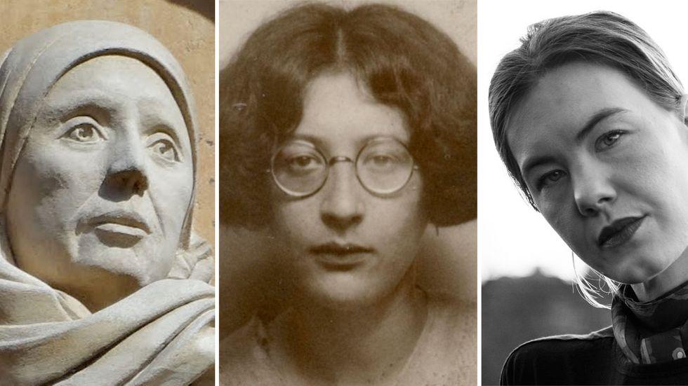 Margery Kempe, Simone Weil och Wera von Essen.