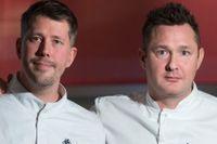 Tom Sjöstedt (th) och kollegan Daniel Roos. Tillsammans står de för middagen på årets Nobelfest.