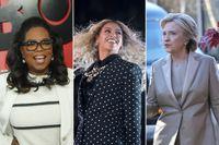 Oprah Winfrey, Beyonce och Hillary Clinton.