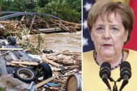 Angela Merkel ska under söndagen besöka drabbade områden i Tyskland.