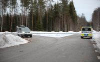 Kvinnan hittades i går i ett område utanför Gävle.