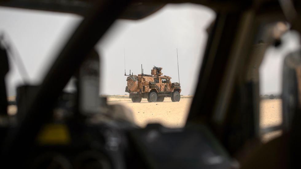 Svensk trupp på patrullering i Mali.