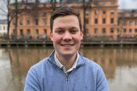 Lucas Ljungberg, förste vice riksordförande för Moderata studenter.