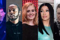 Damon Albarn, Kendrick Lamar, Adele, Cardi B, David Bowie.