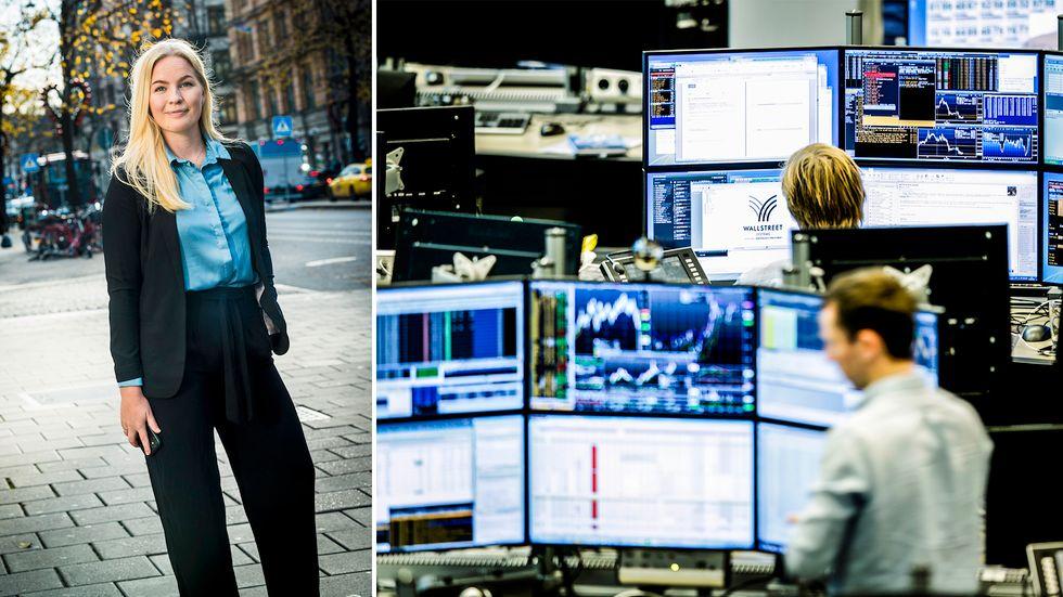 Fler privatpersoner väljer att satsa sina pengar i mer tryggare placeringar, säger Johanna Englund från Fondbolagens förening.