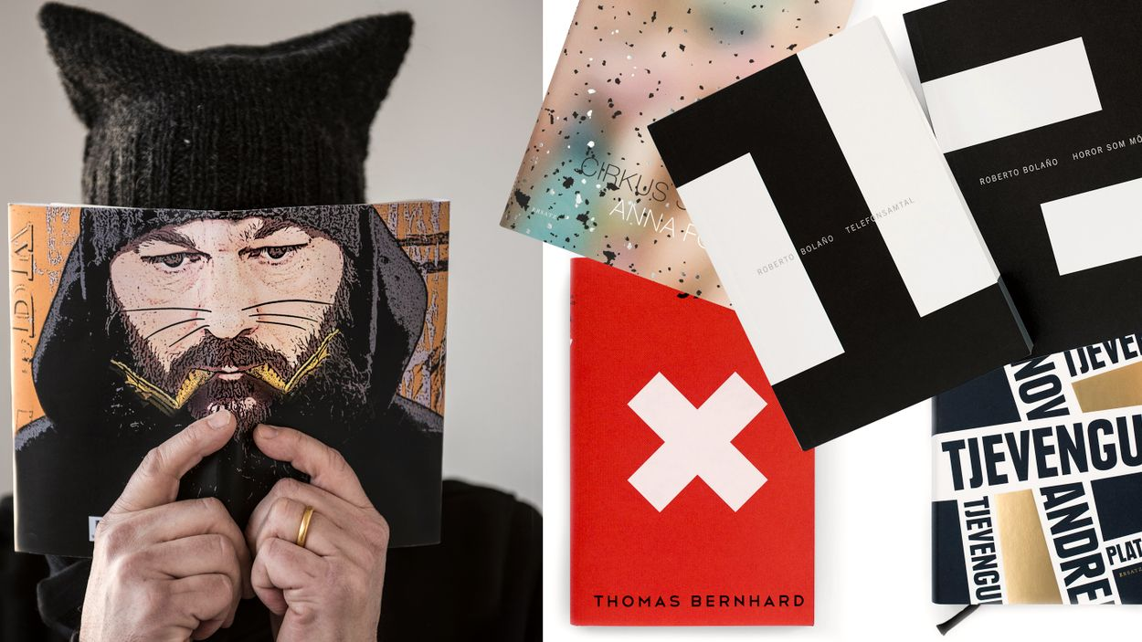 """Håkan Liljemärker har fått rykte om sig att vara en """"litterär"""" formgivare men kan själv tycka att det stänger ute läsare när man ger vissa böcker en för smal form."""