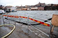 Gamla stans tunnelbanestation ligger lågt och hotas av översvämning om vattnet stiger. Arkivbild.