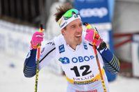 Calle Halfvarsson slutade på 13:e plats i masstarten i Falun.
