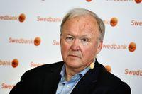 Göran Persson under Swedbanks extrainsatta stämma i somras.