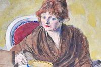 Anna Maria Lenngren målad av Carl Larsson (bilden är beskuren).