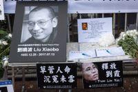 Minnesplats för Liu Xiaobo i Hong Kong.