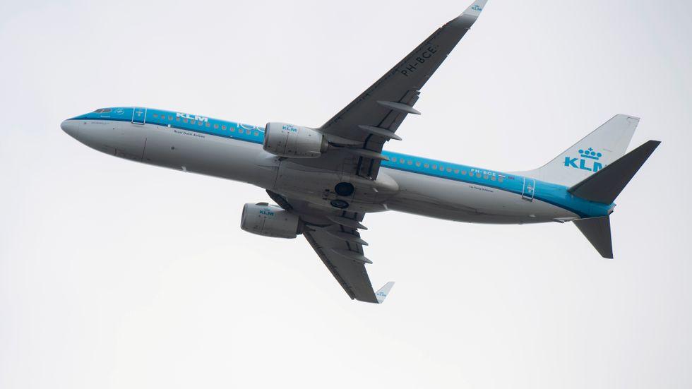 Ett passagerarplan från KLM. Arkivbild.