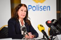 Kammaråklagare Anna Lander under pressträff med anledning av att åtal väcktes i målet som rör den döda treåringen i Norrköping