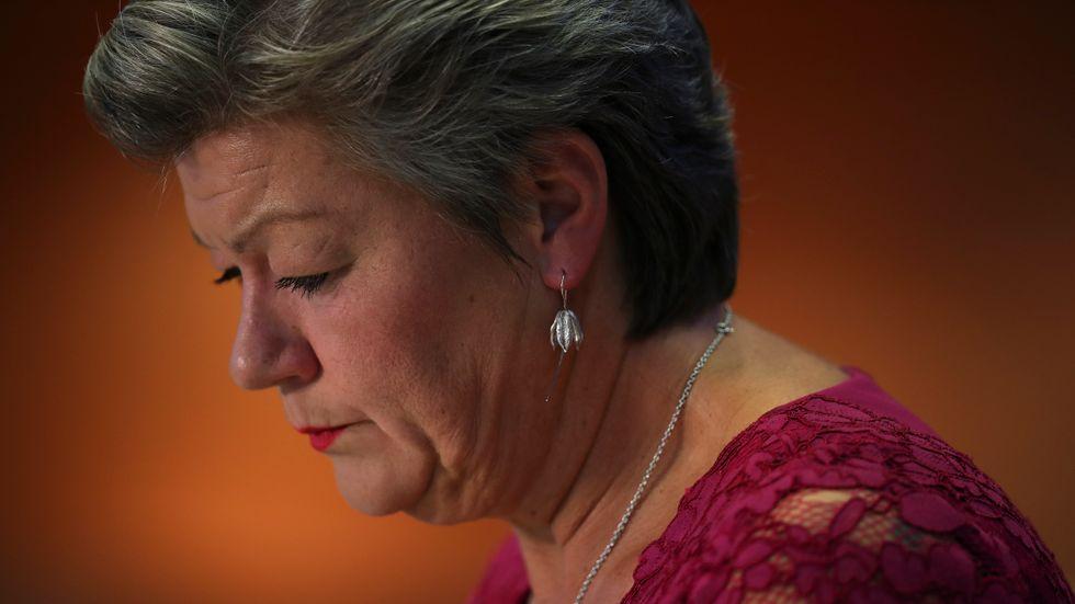 Ylva Johansson hade det tufft i veckans utskottsförhör i EU-parlamentet.
