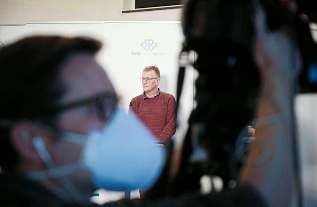 """""""Epidemin som sprids är en sak, och situationen i Stockholm är en annan sak. Och läget kan skifta snabbt"""", sade Anders Tegnell under tosdagens presskonferens."""