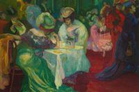 "Axel Törneman, ""Nattcafé II"", 1906, olja på duk, 179 x 200 cm, Thielska Galleriet."