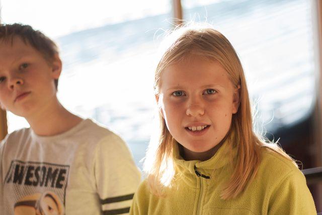Oliver Marcusson, 12 år och Sara Nilsson, 12 år tycker att läsprojektet har varit roligt eftersom man har hjälpts åt och haft ett mål med läsningen.