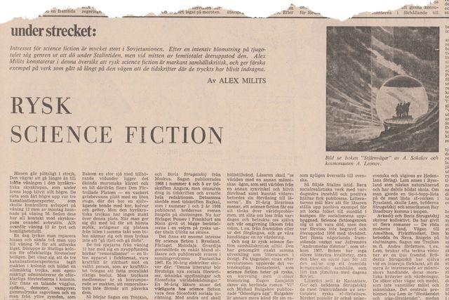 Denna artikel var införd i SvD den 14 april 1972.
