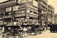 Fram till 1911 var Calcutta huvudstad i brittiska Indien, foto från cirka 1945.