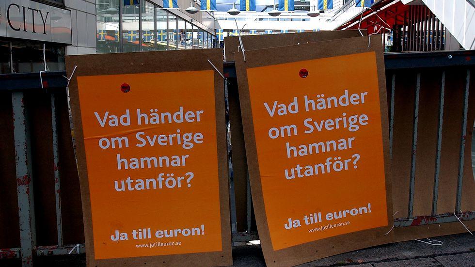 Oro för var Sverige hamnar utan euro.