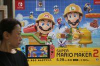 Speltillverkaren Nintendos nettoresultat sjönk med nära 46 procent under första kvartalet. Arkivbild.