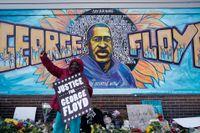 En aktivist i Minneapolis gläds efter att expolisen Derek Chauvin befunnits skyldig till att ha dödat George Floyd.